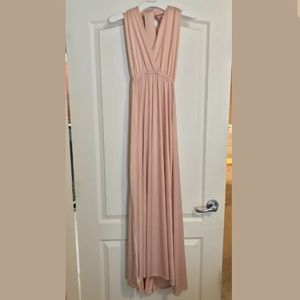 Peach Multiway Convertible Maxi Dress